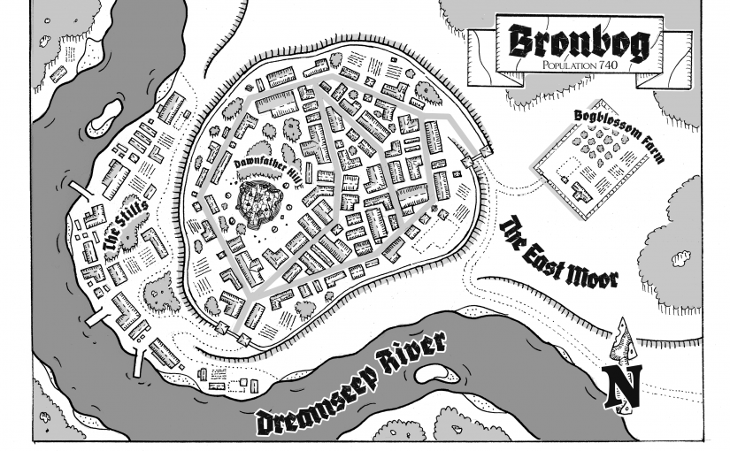 Map: The Village of Bronbog
